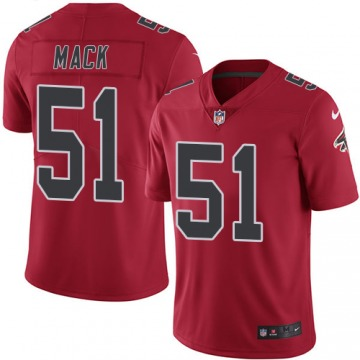 Youth Alex Mack Atlanta Falcons Limited Red Color Rush Jersey