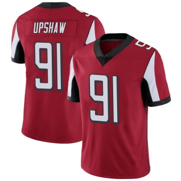 Youth Courtney Upshaw Atlanta Falcons Limited Red Team Color Vapor Untouchable Jersey